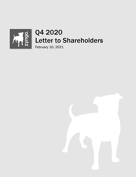 Q4 2020 Letter to Shareholders