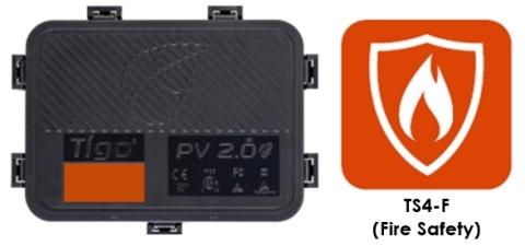 Tigo的新产品TS4-F(消防安全)是TS4平台最经济实惠快速停机解决方案,可与一体化组件接线盒座和改进型/扩展型接线盒座配套使用。(照片:美国商业资讯)