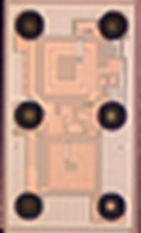 东芝电子元件及存储装置株式会社:采用TaRF10工艺制造的LNA的外观(照片:美国商业资讯)