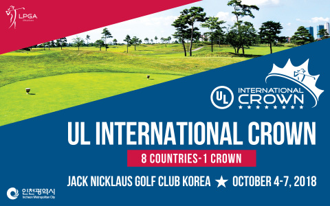 "2018 UL International Crown will be held October 4-7 at Jack Nicklaus Golf Club Korea in Songdo, Incheon Metropolitan City. Incheon Metropolitan City is not sparing any effort to support the event as an Ambassador Partner. The most high-profile biennial golf tournament on the LPGA Tour, the third UL International Crown to take place with the second held in Chicago in 2016. 32 players from the eight countries will compete in the four-day match-play event for the ""Crown."" (Graphic: Business Wire)"