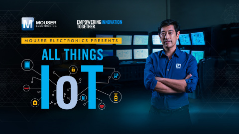Global distributor Mouser Electronics and engineer spokesperson Grant Imahara team up to launch All Things IoT, the latest series in Mouser's Empowering Innovation Together program. The new series kicks off with Imahara's visit to the HPE IoT Innovation Lab in Houston to learn how the Internet of Things is impacting our workplaces and cities. To learn more, visit www.mouser.com/empowering-innovation/all-things-iot. (Photo: Business Wire)