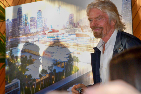 Virgin Group Founder Sir Richard Branson announces plans for new terminal for Virgin Voyages at PortMiami. (Photo: Business Wire)
