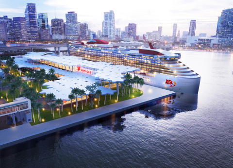 Virgin Voyages announces plans for new palm grove home terminal at PortMiami in 2021. (Photo: Business Wire)
