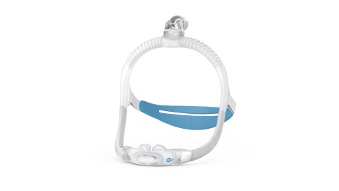 AirFit P30i nasal pillows tube-up CPAP mask, side view (Photo: Business Wire)