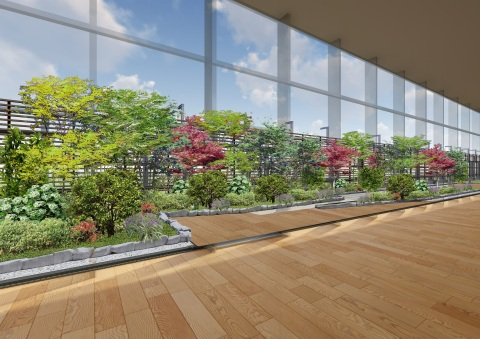Image of the Japanese garden (Graphic: Business Wire)