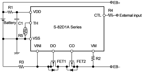 Figure: Example of protection circuit using the S-82D1A Series (Graphic: Business Wire)