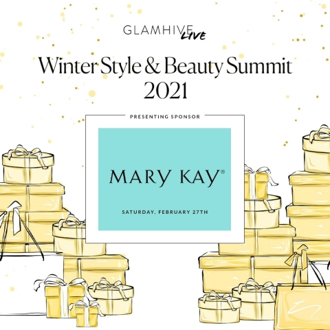 The Glamhive Digital Winter Style and Beauty Summit will bring together top fashion and beauty leaders (Graphic: Mary Kay Inc.)