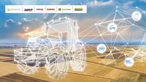 DataConnect是凯斯纽荷兰工业、约翰迪尔、CLAAS和365FarmNet之间的合作项目,使农场能够通过其所选的单个数字平台来查看其所有机器的情况。图片:DataConnect品牌