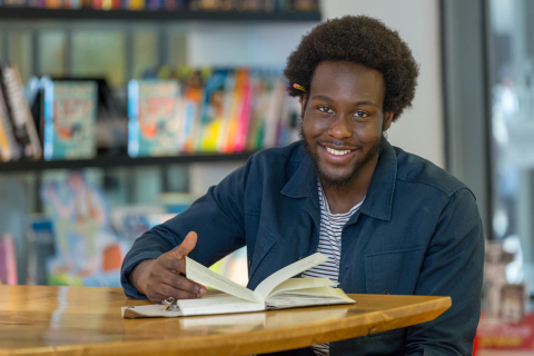 Caleb Femi, Meet With A Poem global ambassador Photograph: Lee Townsend (Photo: Business Wire)