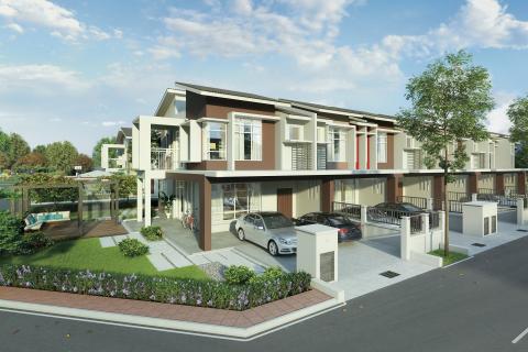maple @ hillpark shah alam north的两层楼连栋房屋(图片:美国商业