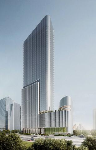 商业资讯_雅加达办公楼渲染图(图示:美国商业资讯)